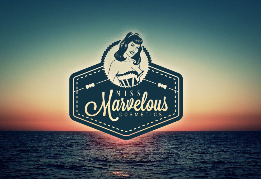 Beauty Kosmetik Online Shop Logo Design Miss Marvelous Cosmetics