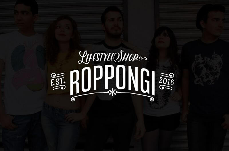 Roppongi Lifestyle Shop Logo Design Online Shop