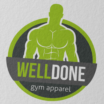 WellDone gym apparel Logo Design Online Shop Sport Fitness Kleidung
