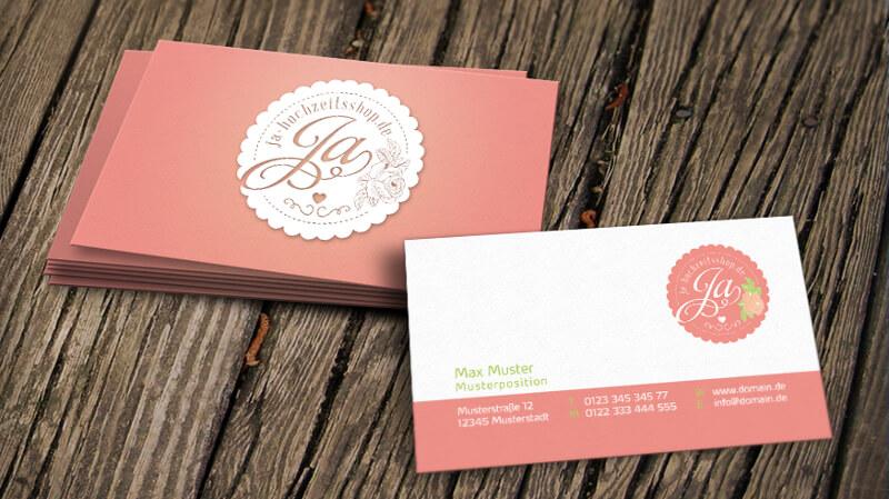 Logo Ja Hochzeitsshop Design Online Shop