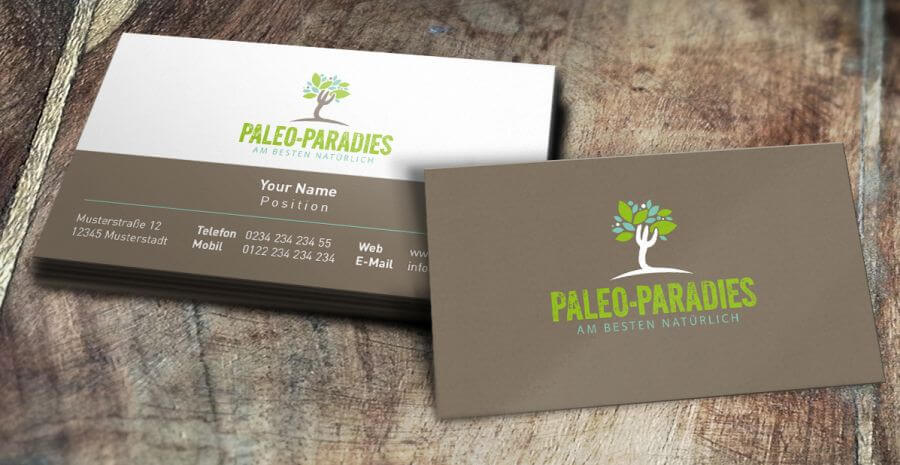 Online Shop Logo Ernährung Paleo-Paradies