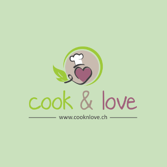 Herz Logo Design cook and love
