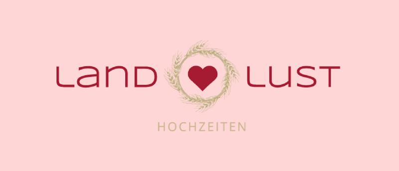 Land Lust Hochzeit Planung Herz Logo