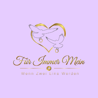 Herz Logo Hochzeitsfotografie Für immer Mein