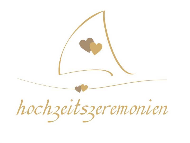Logo-Design Herz Planung Hochzeitszeremonien