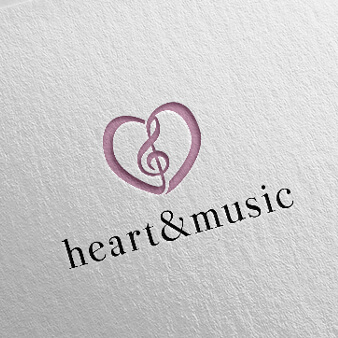 Musikalische Herz Logo Designs Heart and Music 371234