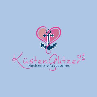 Online Shop Herz Logo Küsten Glitzer 565812