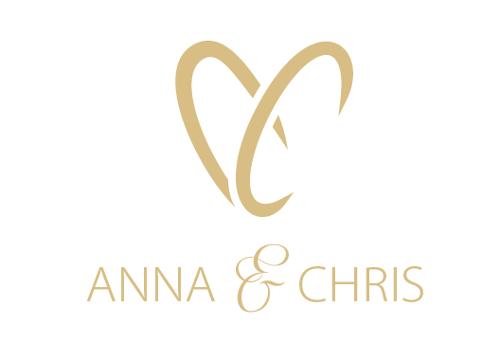 Hochzeit Anna und Chris Planung Logo-Design