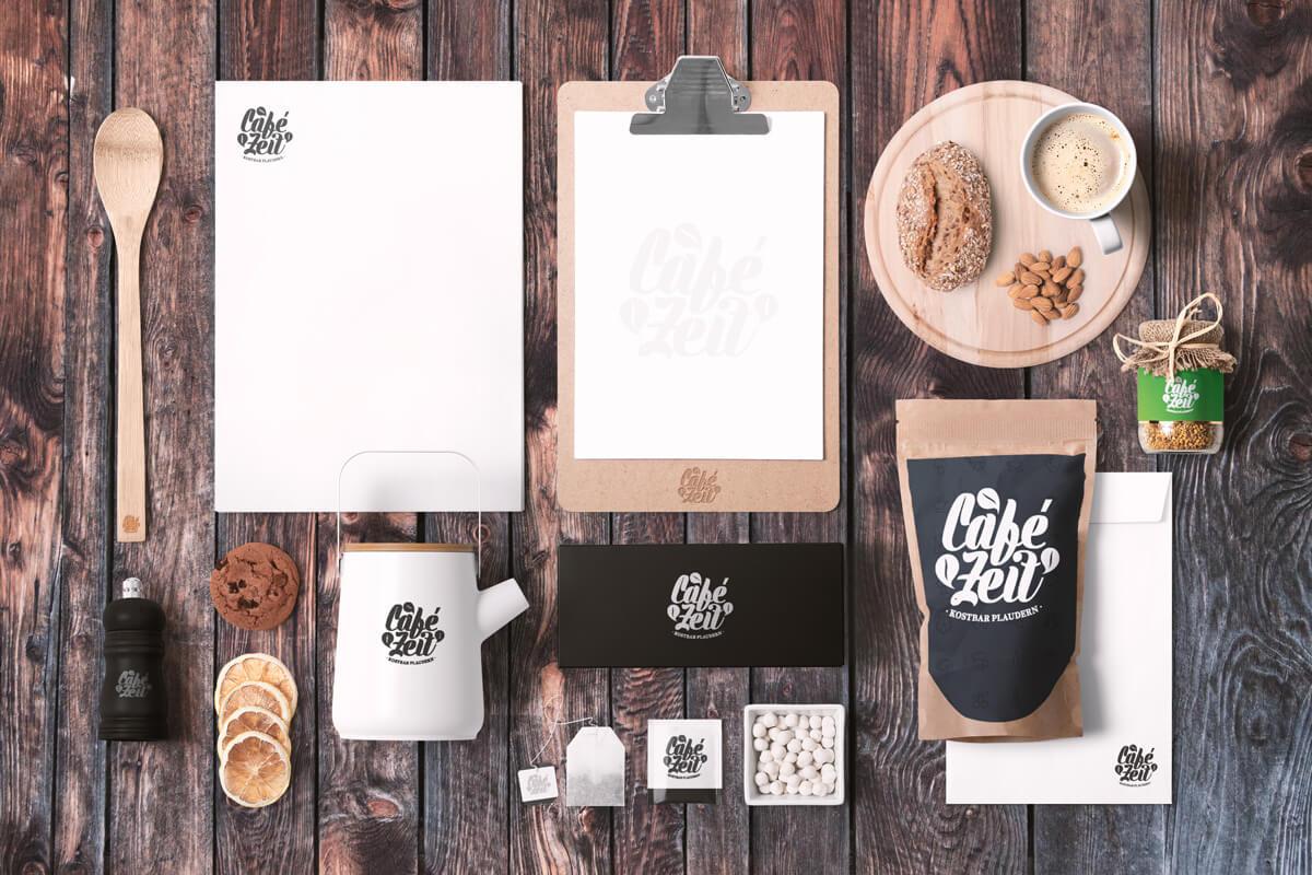 Café Logo Design Café Zeit Kaffee Plaudern