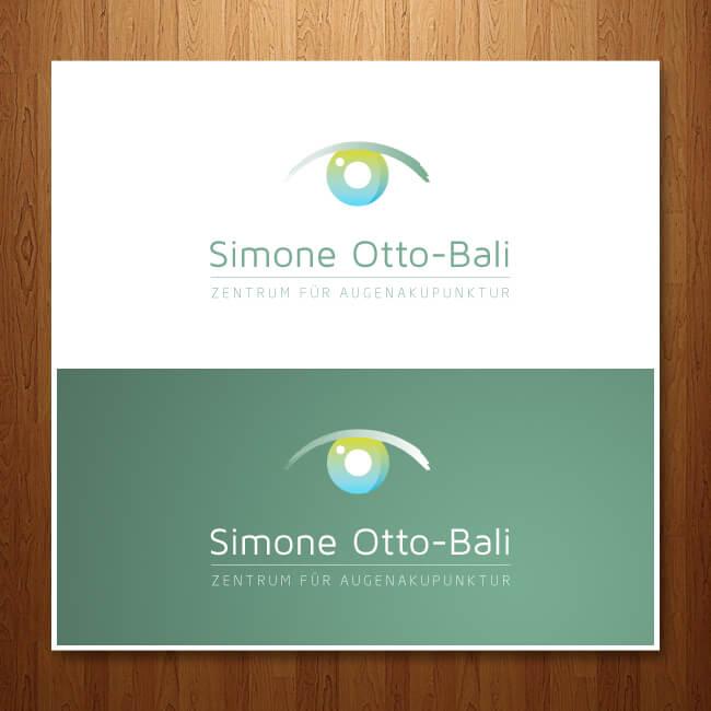 Dr. Otto-Bali Augenakupunktur Logo Design Augenarzt