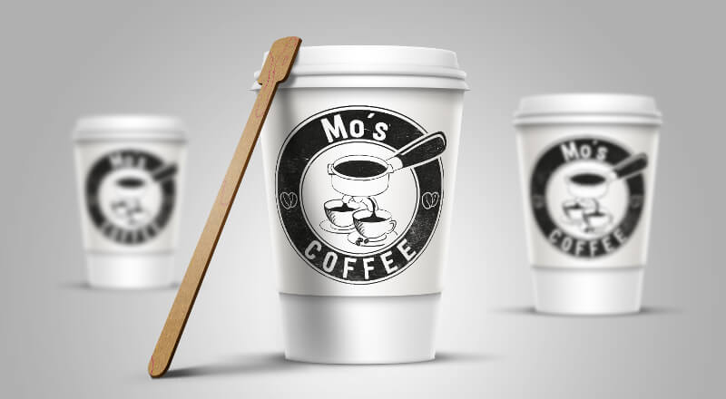 Mo's coffee logo coffeeshop