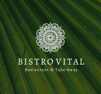 bistro vital logo design bistro