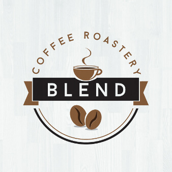 blend coffee roastery logo design