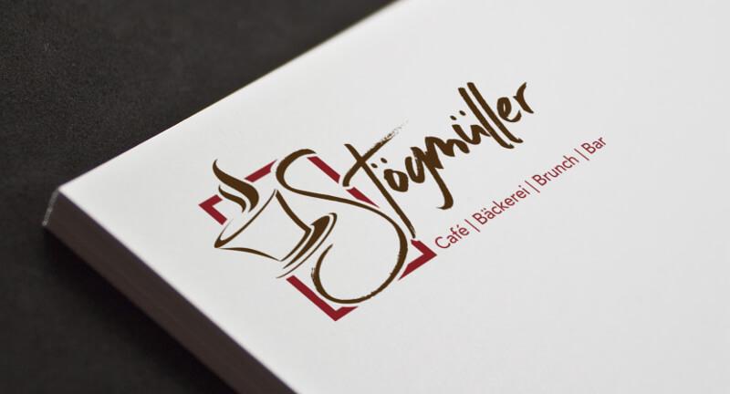 café stögmüller logo café Kaffeetasse