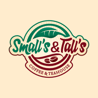coffeeshop logo design smalls and talls