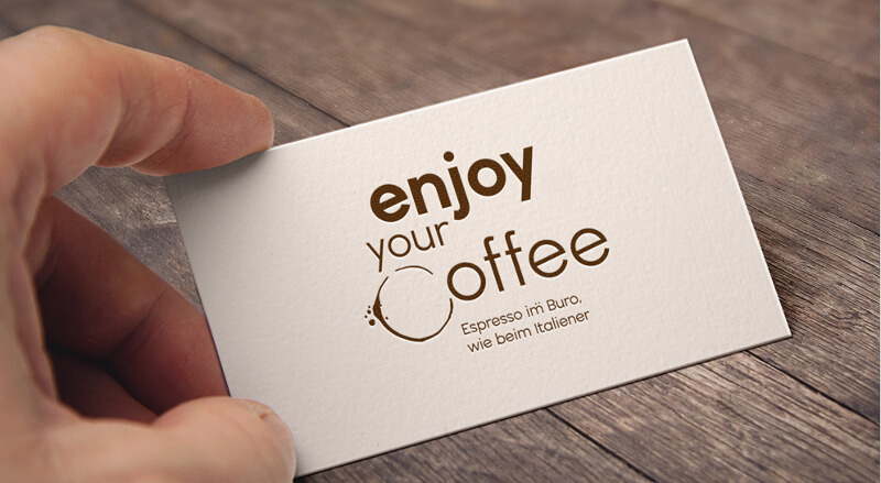 enjoy your coffee espresso logo design