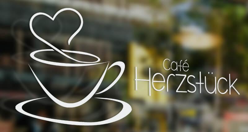 logo café herzstück kaffeetasse