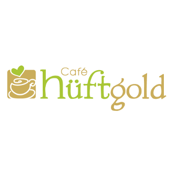 logo design café hüftgold Kaffeetasse