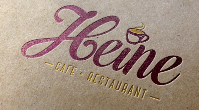 logo design café restaurant heine