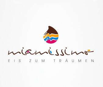 logo design eiscafé miamissimo