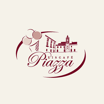 logo eiscafé piazza design