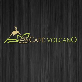 logo kaffee café volcano
