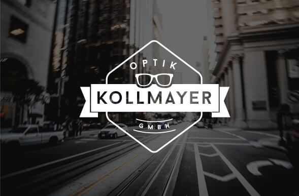 optik kollmayer logo design optiker