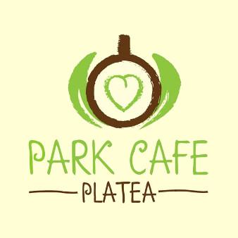 park café kaffee tasse logo design