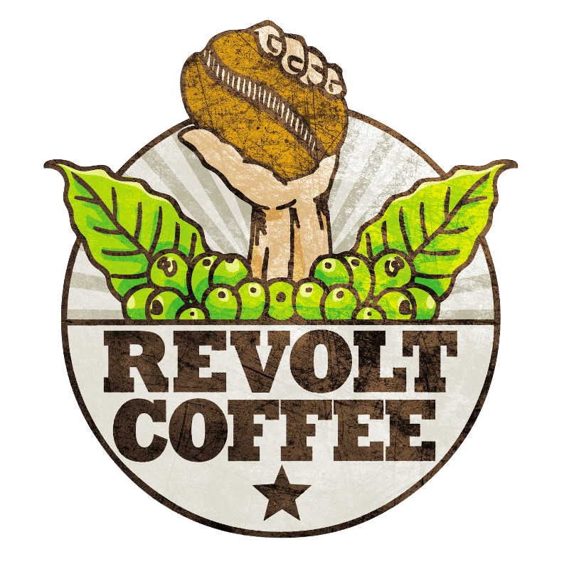 revolt coffee logo design