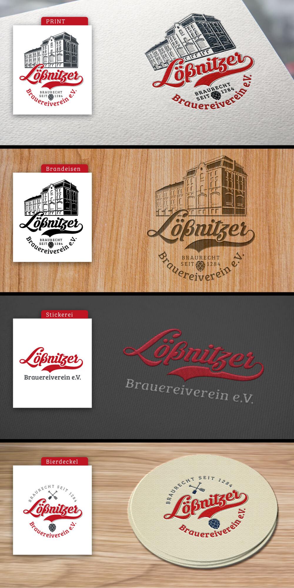 Einsatzmöglichkeiten Vereinslogo Brauereiverein Lößnitzer