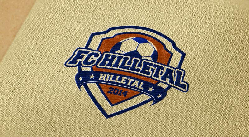 FC Hilletal Vereinslogo Fußballverein Logo Design