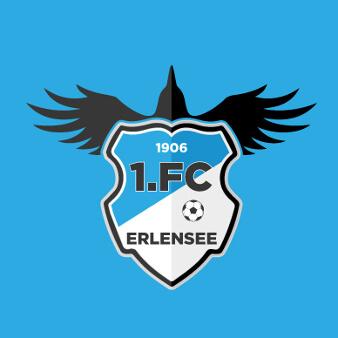 Fußballverein Logo Design 1. FC Erlensee