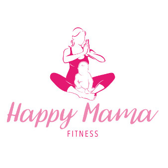Pilates Logo Yoga Happy Mama Fitness