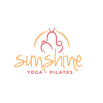 Pilates Logo Yoga sunshine Lotussitz