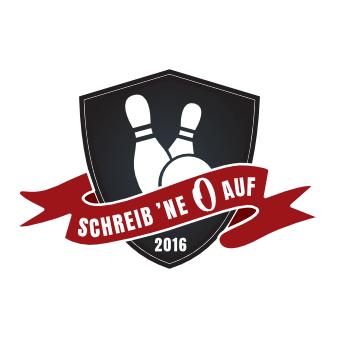 Schreib ne 0 auf Kegelverein Logo Sportverein