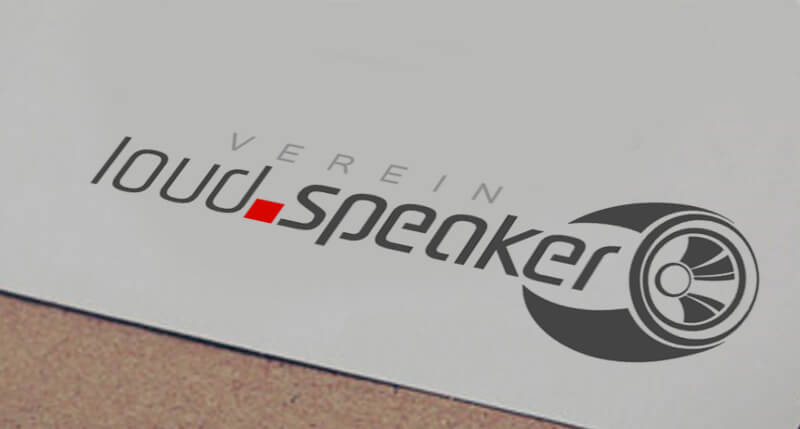 Vereinslogo Musikverein Logo Design loud speaker