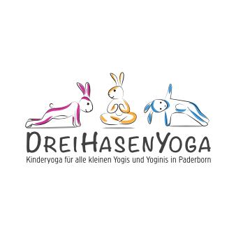 Yoga Logo Design DreiHasenYoga
