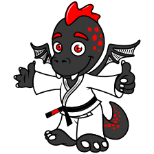 design drache logo niedlich maskottchen