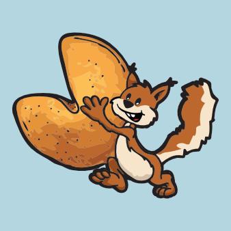 eichhörnchen logo nager nuss design