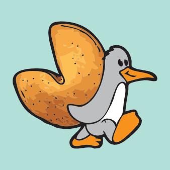 ente vogel logo design tier nuss niedlich