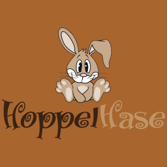 hasen design logo hoppelhase niedlich