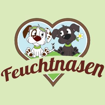 hund tier logo feuchtnasen design niedlich bunt