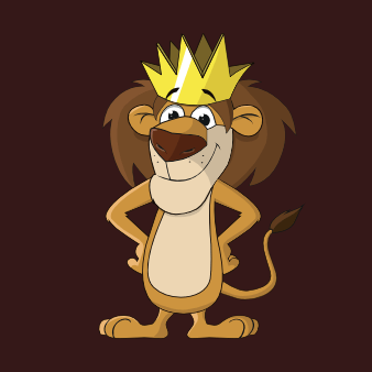 löwe logo design maskottchen zeichnung niedlich