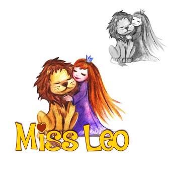 logo löwe miss leo prinzessin design zeichnung freunde