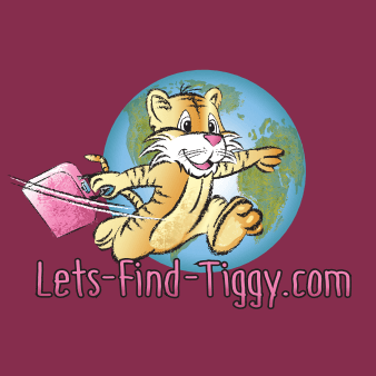 logo tiger lets find tiggy reisen travel maskottchen design