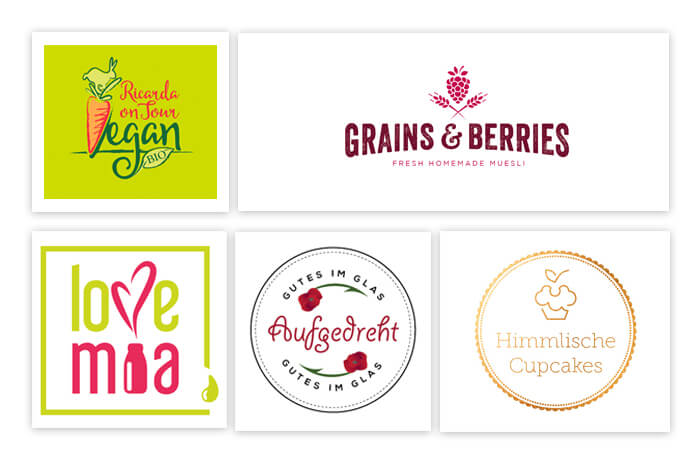 vegane green Logos