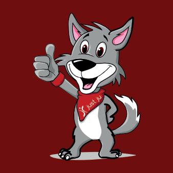 wolf logo hunde design maskottchen niedlich