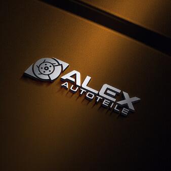 Auto Logo Design Großhandel Einzelhandel Autoersatzteile Alex