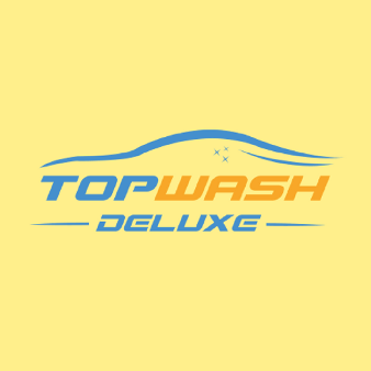 Autowaschstraße Logo Design Topwash Deluxe Darmstadt KFZ Fahrer