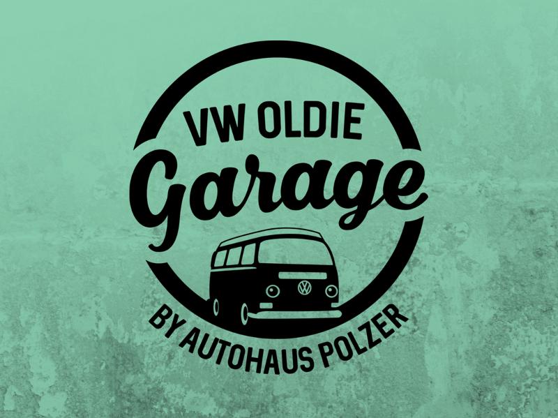 Autohaus Polzer VW Oldie Garage Auto Logo Design
